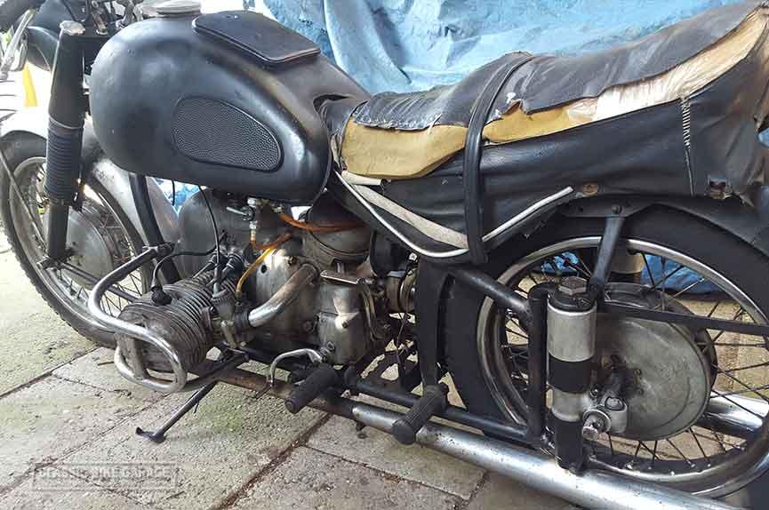 Bmw r67 3 ex politiezijspan gaat na restauratie verder als for Garage seat fains veel