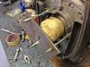 9 - Zelfgemaakt gereedschap om de BMW R80/7 krukas te blokkeren