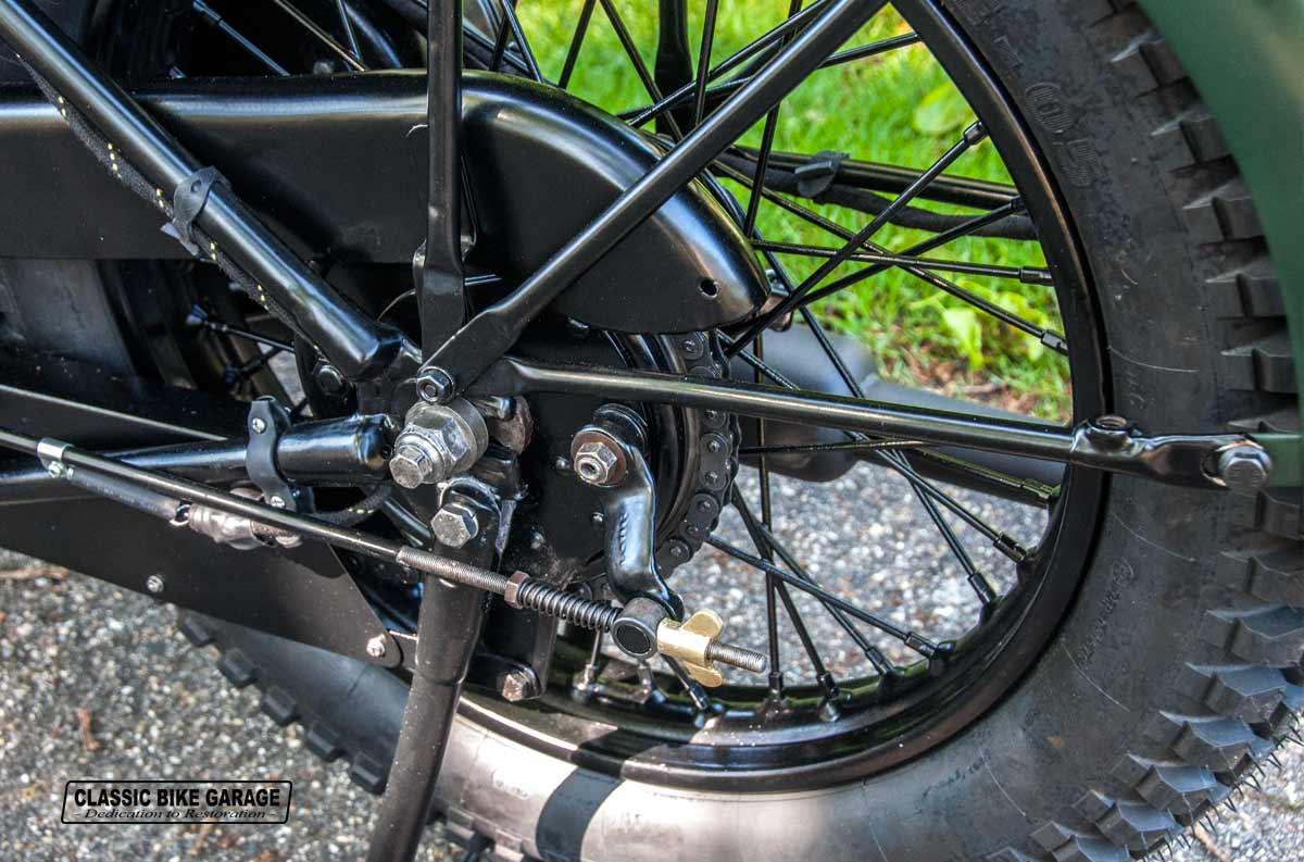 BSA-M20-achterwiel